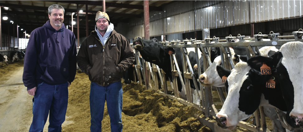 (L to R) Barry Bubolz, NRCS Area GLRI Coordinator, with Aaron Augustian or Augustian Farms LLC.