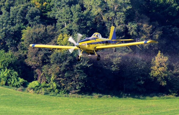 Aerial seeding cover crops